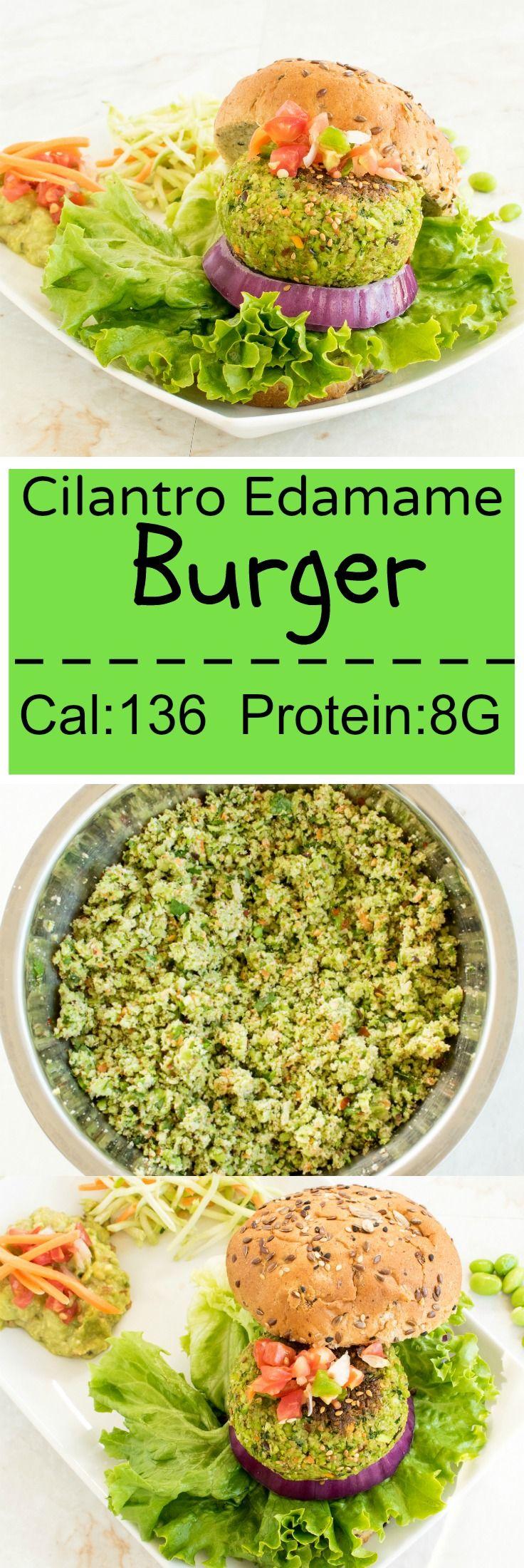 Cilantro Edamame Burger   Protein rich vegan burger   kiipfit.com