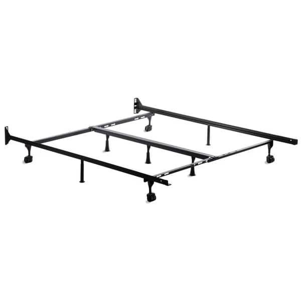 Brookside Universal Adjustable Metal Bed Frame With Center Support