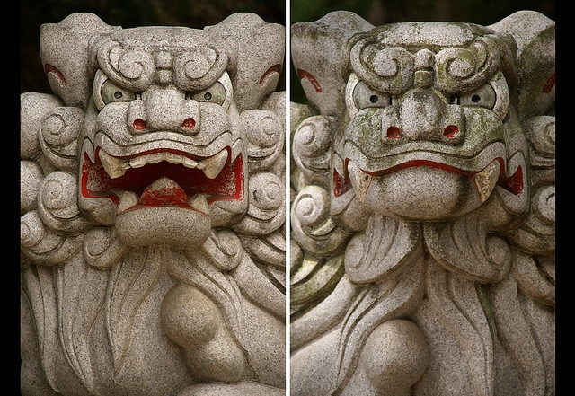 17 best images about komainu on pinterest cats buddhists and foo dog. Black Bedroom Furniture Sets. Home Design Ideas
