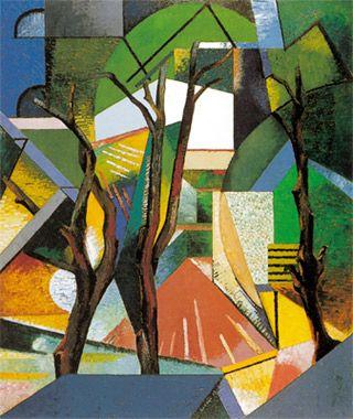 """Auguste Herbin - """"Les trois arbres"""""""