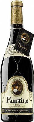 2001 Faustino Edicion Especial Rioja - 12 flessen  Beschrijving;Schoon helder strongcherry rode baksteen-rood te ontwikkelen. Op de neus is intens met gemarkeerde lange vergrijzing hints rijp fruit en hout. Silky in de mond ronde tannine en goede zuren... Lang afwerking met aantekeningen van rijpe vruchten.Rode Reserva 100% Tempranillo18 maanden in Frans eiken vatRioja D.O.Ca.075 literVoedsel overeenkomende;Elke vorm van vlees. Het komt overeen met met gegrilde of gebakken aardappelen…