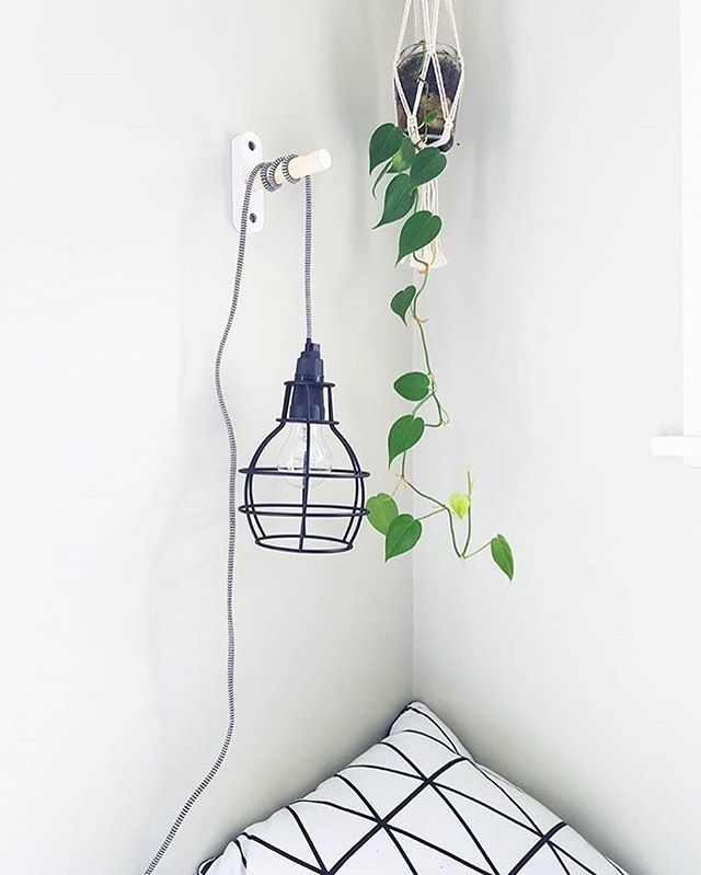 Loving this use of the #Kmart wall hook + cage light by @kmartnzlovers