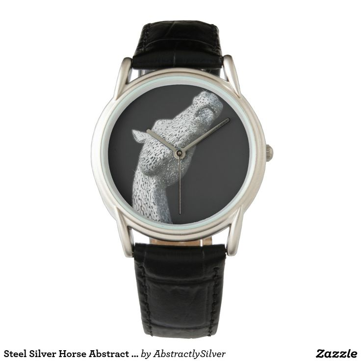 Steel Silver Horse Abstract Artist Designed Watch