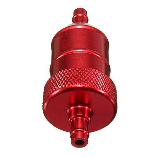 Filtre a essence – SODIAL(R)Universelle 6MM 1/4″ moto moto scooter quad pit velo CNC filtre a carburant -Rouge: * SODIAL est une marque…