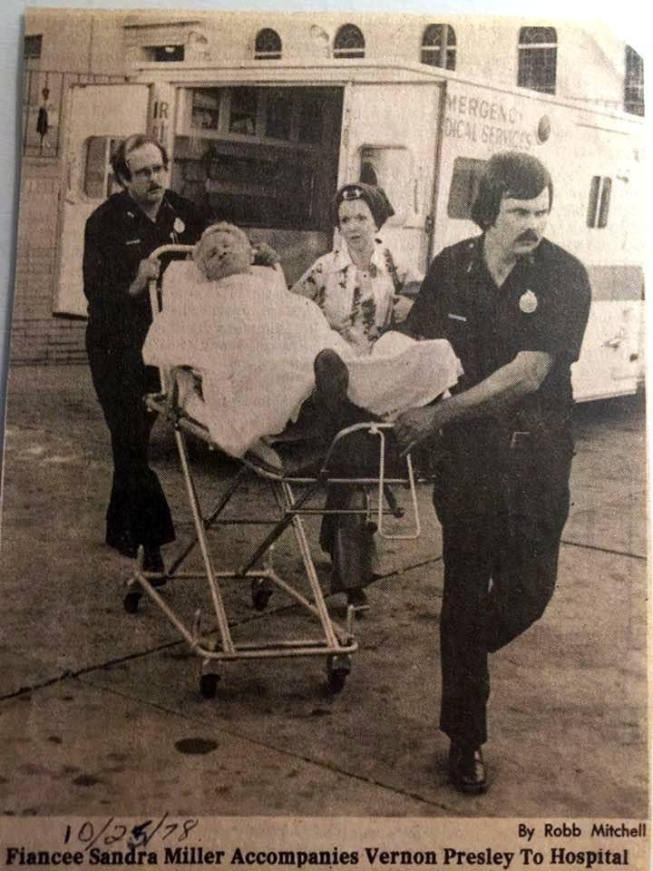 Vernon Presley taken to Hospital in 1979 Elvis presley
