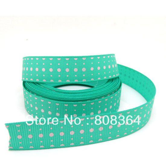 Прямые продажи бросился Pinypon Fitas бесплатная доставка 5 ярды зеленая точка широкий свадьба ремесло печатный тканая лента ( w02165x1 )