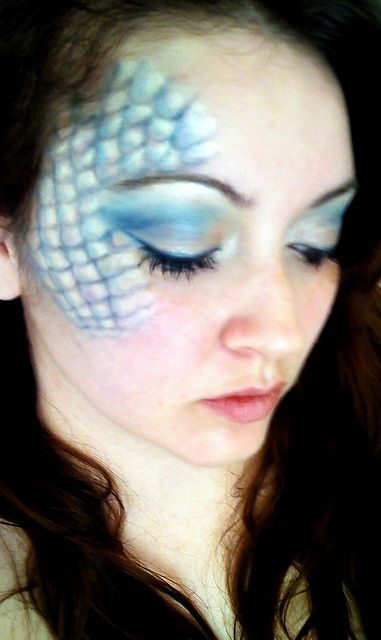 ADORE this mermaid makeup!
