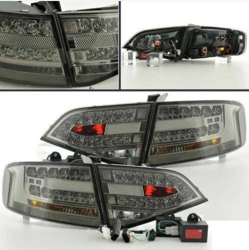 Audi A4 Saloon 8K 2007-2013 Black Smoked LED Style Rear Lights   This is for 4 items. You will recieve 2 x outer lights and 2 x boot inner lights.   These will not fit Estate/Avant Models
