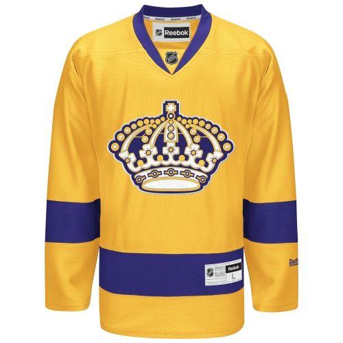 Mens Reebok Gold Los Angeles Kings Premier Alternate Jersey