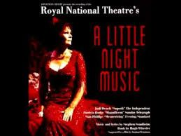 A revival by the Royal National Theatre. It was directed by Sean Mathias, with set design by Stephen Brimson Lewis. It starred Judi Dench (Desiree), Siân Phillips (Madame Armfeldt), Joanna Riding (Anne Egerman), Laurence Guittard (Fredrik Egerman), Patricia Hodge (Countess Charlotte) and Issy van Randwyck (Petra). Dench received the Olivier Award for Best Actress in a Musical. Got to the National at 6;30 am-2nd in line for same day tickets. MAGICAL.