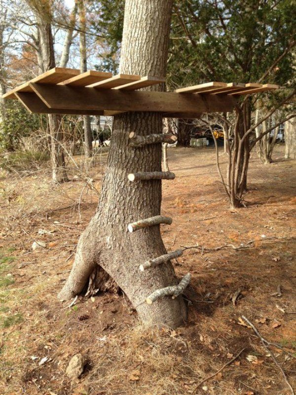 Outdoor for Kids diy | Simple And Cute DIY Tree House For Your Kids' Outdoor Pastime ...