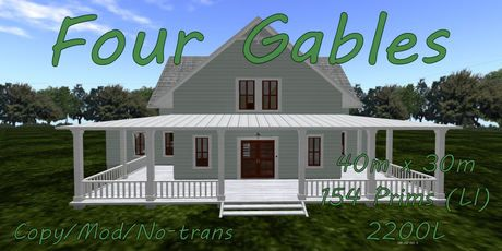Four gables for the home pinterest farm house house Four gables house plan