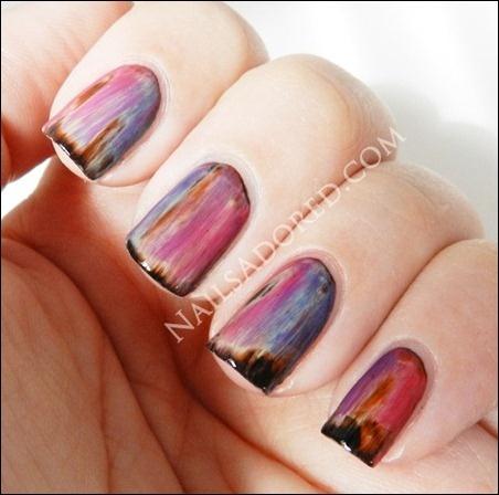 Love these nails!: Grunge Nails, Black Colors, Dark Nails, Mood Nails Polish, Nails Art Ideas, Colors Club, Nails Manicures, Cool Nails, Nail Art