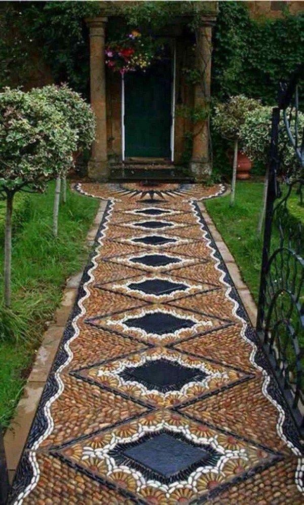 Pebble gray pattern circles tropical mosaic pattern brown black classy design