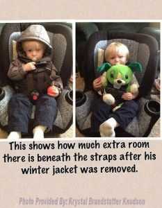 Cold Weather Car Seat Safety - What NOT to Wear!  |  Mudpies and Melodies