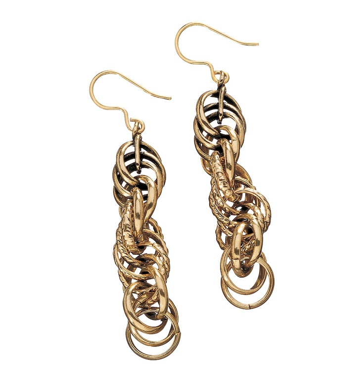 Kalevala Koru / Kalevala Jewelry / SETUKAIS' CHAIN EARRINGS  material: bronze
