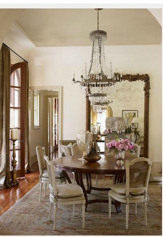 Love this antique dining room furniture
