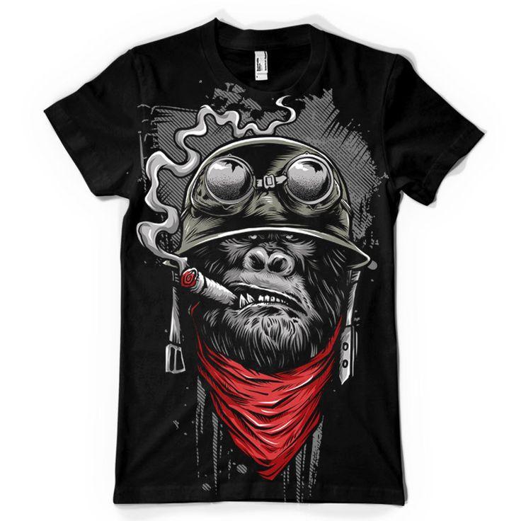 Ape of Duty Tshirt Monkey art, Gorilla tattoo, Graffiti art