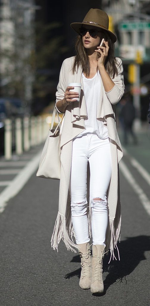 Alessandra Ambrosio showed off her chicest street style in New York City before the Victoria's Secret Fashion Show taping.