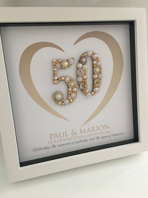 Golden Wedding Anniversary Gift - 50th Anniversary Gift ...