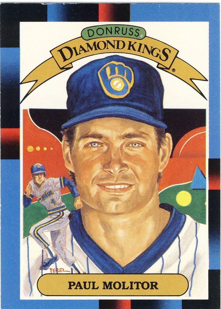 1988 donruss diamond kings paul molitor baseball cards