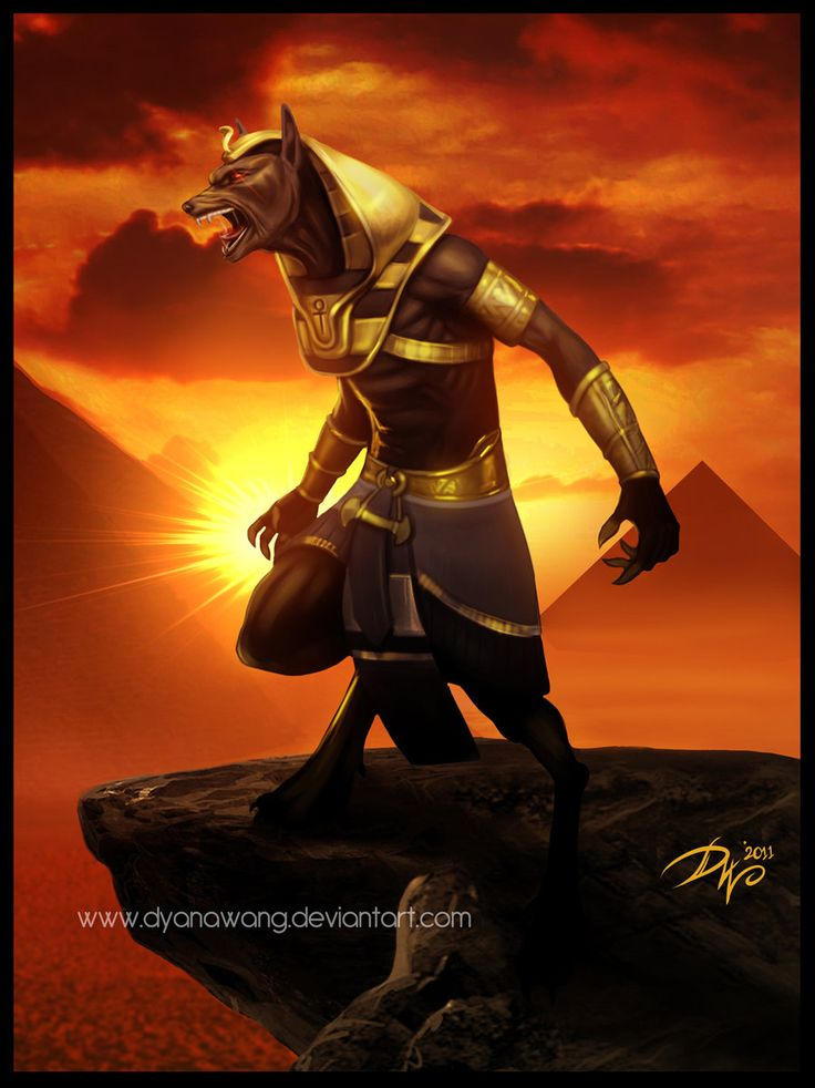 The Egyptian Tarot Kit By Lo Scarabeo Lo Scarabeo: Anubis By ChekydotStudio