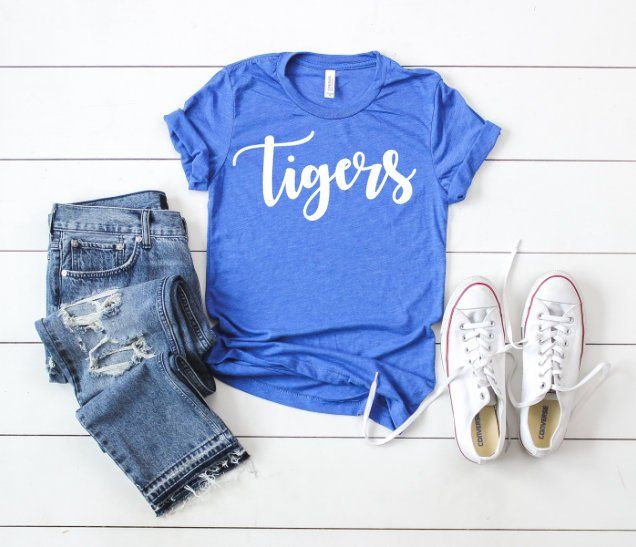 Tigers football tee, Tigers Raglan, simple football shirt, spirit shirt, Tigers … – Sports Designs