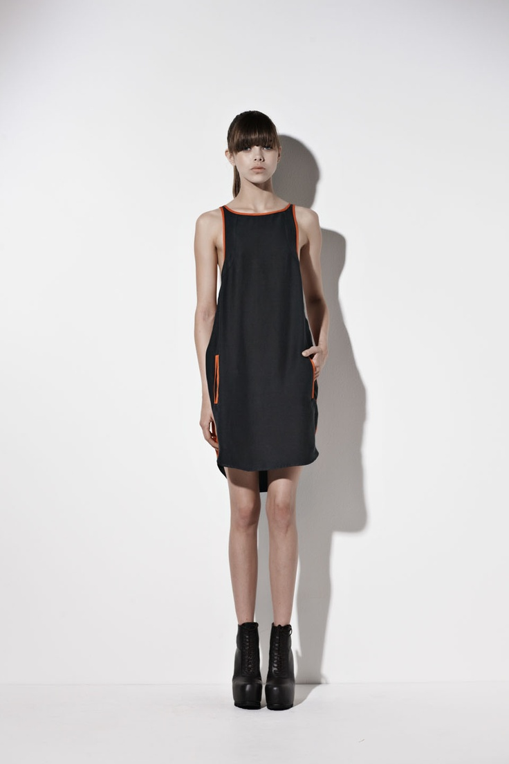 Tunnel Vision Dress - Lemon/Shell colour way only