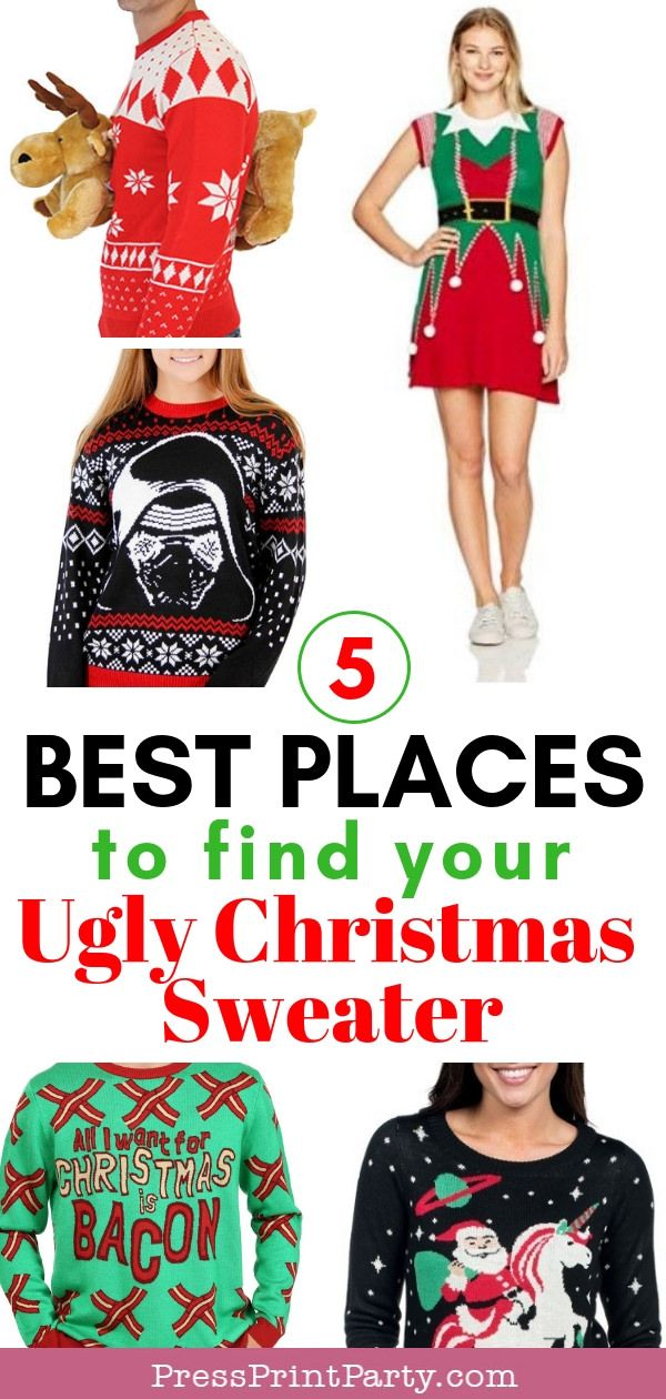 5 Best Places to Find Your Ugly Christmas Sweater - Press Print