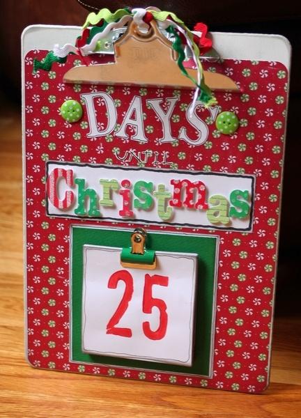 Clipboard Advent Calendar - Scrapbook.com
