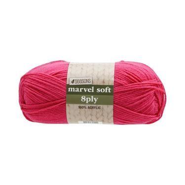 4 Seasons Marvel Soft 8 Ply Yarn Fuchsia 100 g