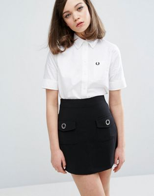 Camisa Oxford de manga corta Authentic de Fred Perry