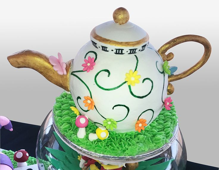 Mad Hatters Tea Party Cake - Teapot details