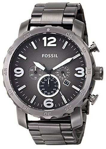 Fossil Fossil Men's JR1437 Nate Chronograph Smoke Stainless Steel Watch Find it on: www.watchesbuy.net for only: $145.00