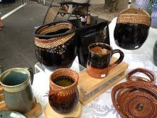 Lynn Kusack local basket weaver and potter