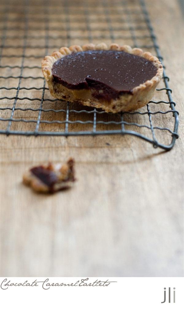 salted chocolate caramel tartlet