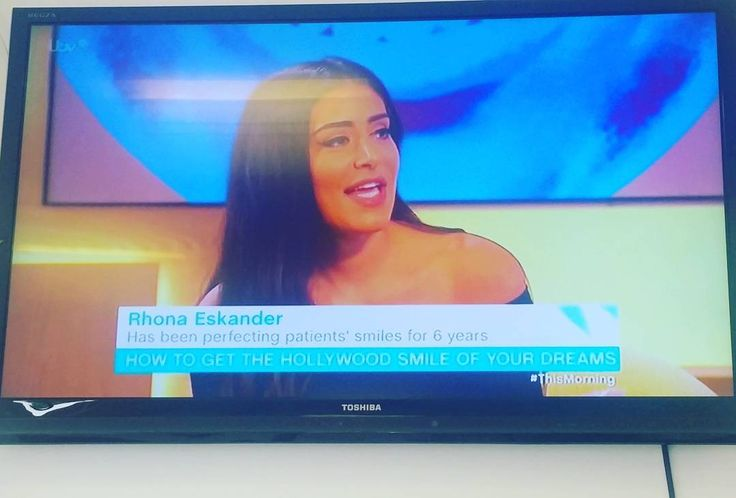 Yes this happened today! @drrhonaeskander on @itv with @eamonnholmes and @ruthlangsford talking about teeth whitening @invisalignuk (invisible braces) facial aesthetics (high gum lines/gummy smiles). So excited to see our very own Dr Rhona Eskander sharing her passion for her work on TV.