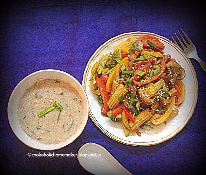 Let's Cook!: Finger Millet & Cream of Corn soup with Stir Fried...