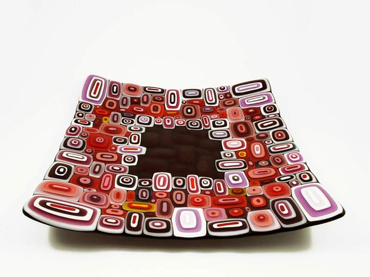 Junction Art Gallery -  David Pascoe - X-Large 'Allsorts' Dish, kiln-formed and blown roll up glass £330.00 http://www.junctionartgallery.co.uk/artists/glass/david-pascoe/x-large-allsorts-dish