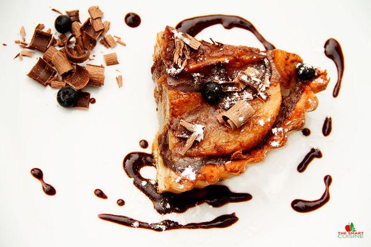 Tarta Tatin Cu Pere Caramelizate si Ciocolata