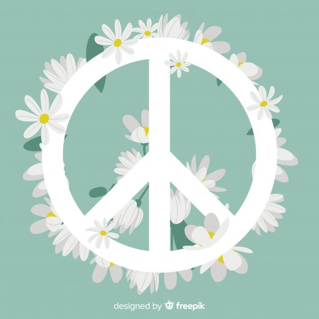 Download Floral Peace Sign For Free Peace Sign Art Peace Sign Peace And Love Free peace sign screensavers wallpaper