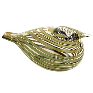 iittala Toikka Whippoorwill (Willow Duck) Whippoorwill (or Willow Duck) is designed by renowned Finnish artist Oiva Toikka. This bird features bands of green stripes running around an otherwise transparent body. The clear head allows a glimpse.....