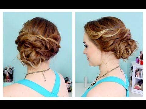 Quick Side Updo for Prom! A lot easier than you think! and it could work for Bridesmaids or Bridal hair!