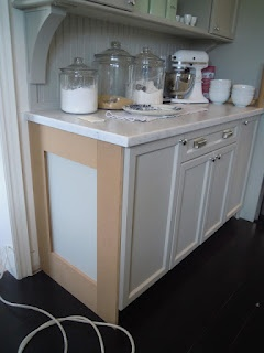 Trim out side of cabinets (how to reface cabinets)