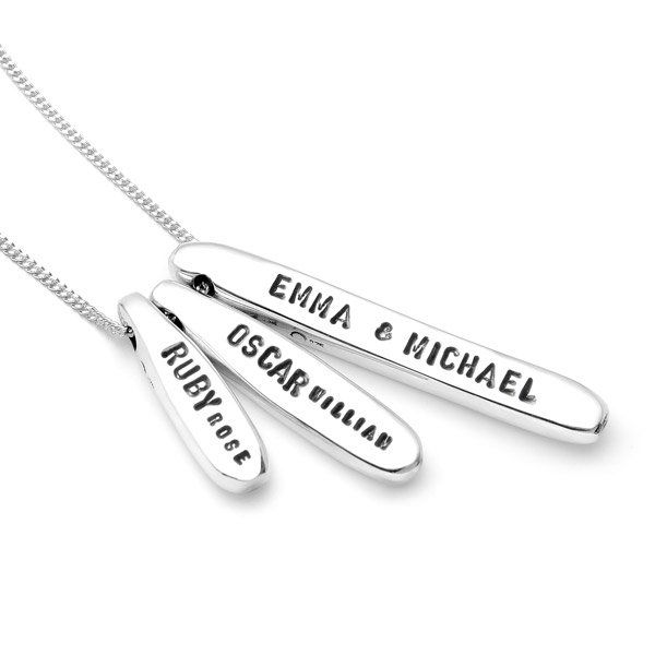 uberkate necklace. personalized jewellery