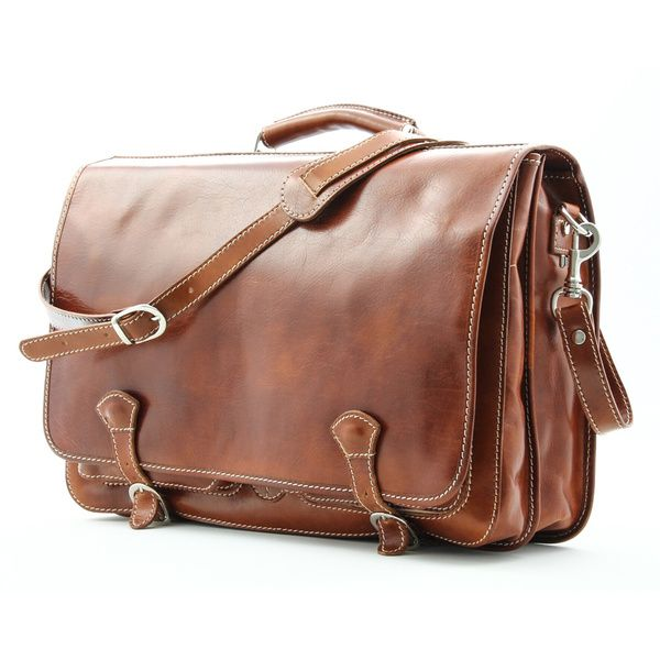 Alberto Bellucci 'Florence' Italian Leather Messenger Bag | Overstock.com Shopping - The Best Deals on Messenger Bags
