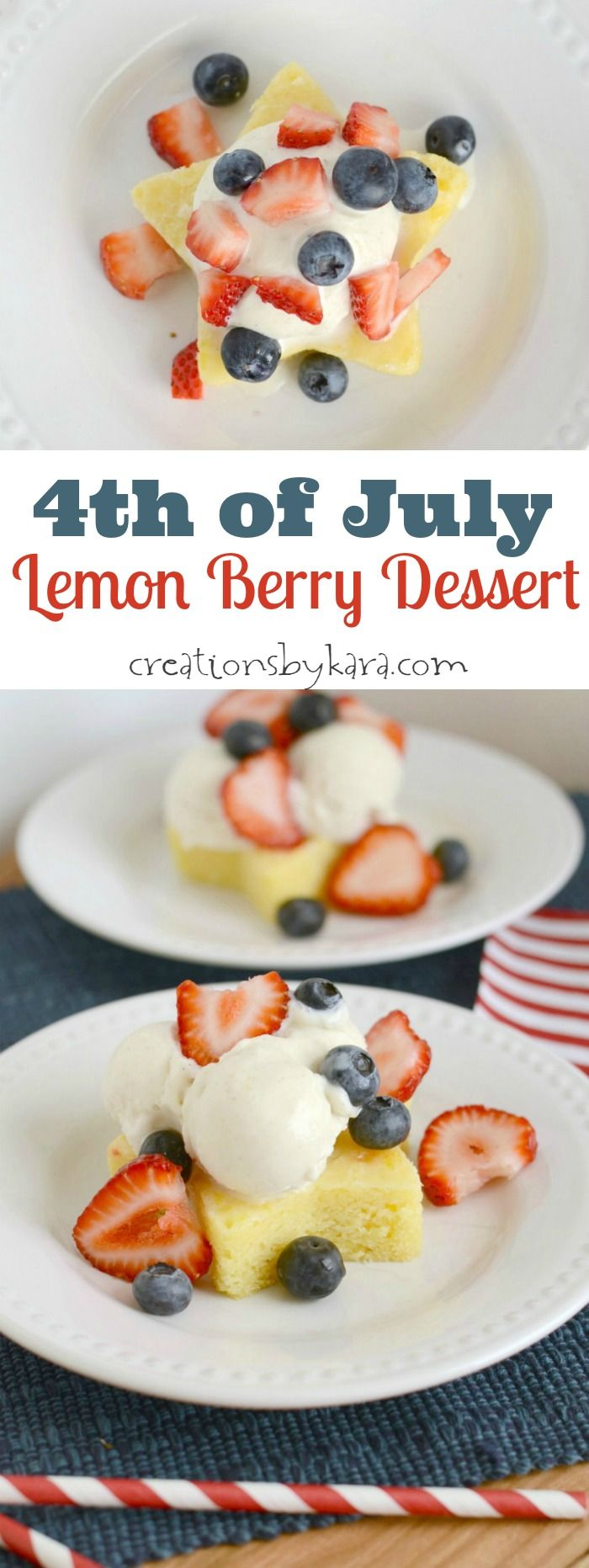 4th of July Lemon Berry Dessert- a perfect summer treat!