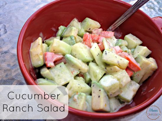 Summer Salad: Zesty Cucumber Ranch