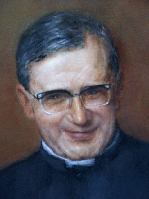 Close-up of portrait of St. Josemaria Escrivqa, founder of Opus Dei.
