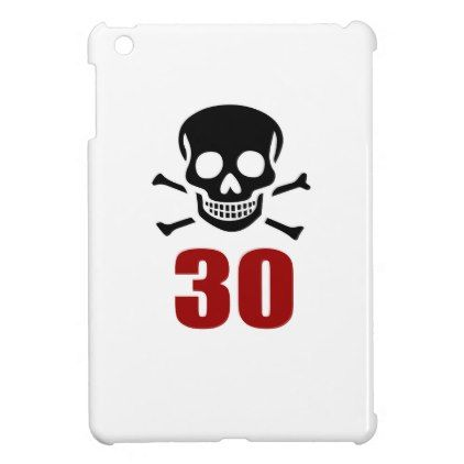 #30 Birthday Designs iPad Mini Cover - #giftidea #gift #present #idea #number #thirty #thirtieth #bday #birthday #30thbirthday #party #anniversary #30th